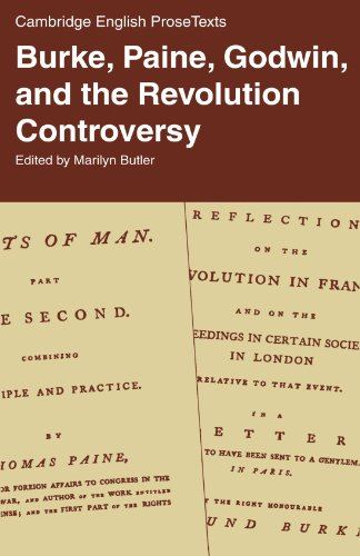 9780521286565: Burke, Paine, Godwin, and the Revolution Controversy (Cambridge English Prose Texts)
