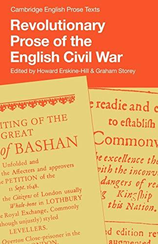 9780521286701: Revolutionary Prose of the English Civil War (Cambridge English Prose Texts)