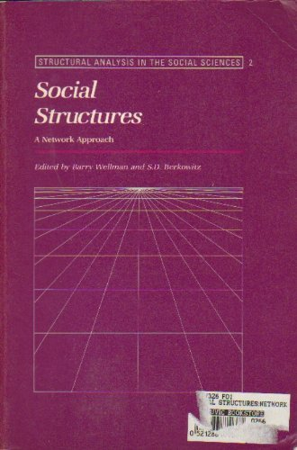 9780521286879: Social Structures: A Network Approach (Structural Analysis in the Social Sciences)