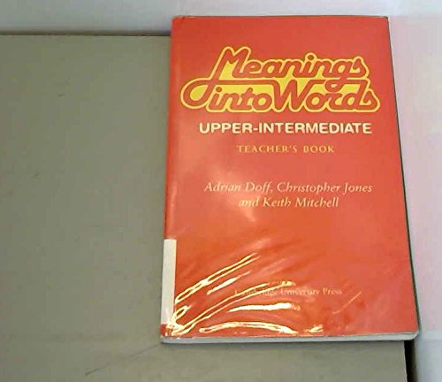 meanings into words upper intermediate students book adrian