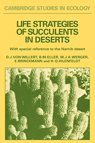 9780521287098: Life Strategies of Succulents in Deserts: With Special Reference to the Namib Desert (Cambridge Studies in Ecology)