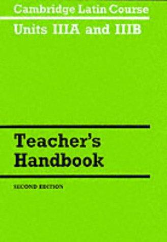 9780521287524: Cambridge Latin Course Unit 3A and 3B Teacher's Handbook