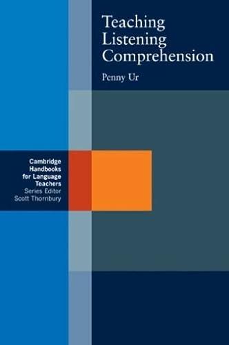 9780521287814: Teaching Listening Comprehension (Cambridge Handbooks for Language Teachers)