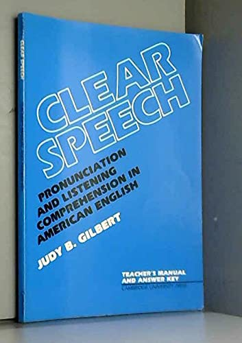 9780521287913: Clear Speech Teacher's Manual: Pronunciation and Listening Comprehension in American English