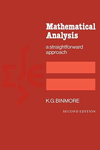 9780521288828: Mathematical Analysis: A Straightforward Approach, 2nd Edition