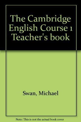 9780521289108: The Cambridge English Course 1 Teacher's book
