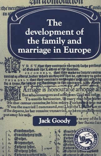 9780521289252: The Development of the Family and Marriage in Europe (Past and Present Publications)