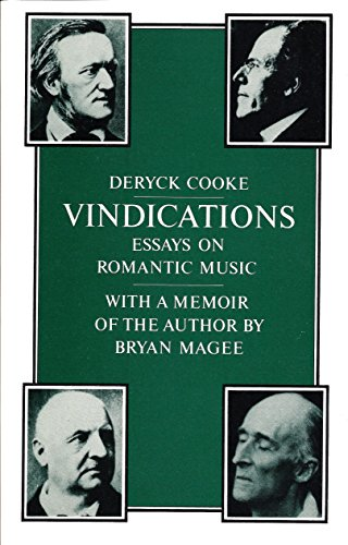 9780521289474: Vindications: Essays Romantic Music