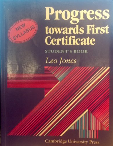 Progress towards first Certificate.: JONES Leo