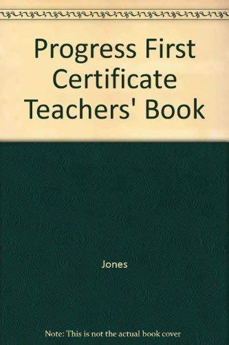 9780521289511: Progress First Certificate Teachers' Book