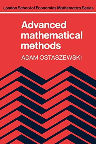 9780521289641: Advanced Mathematical Methods (London School of Economics Mathematics)