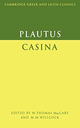 9780521290227: Plautus: Casina