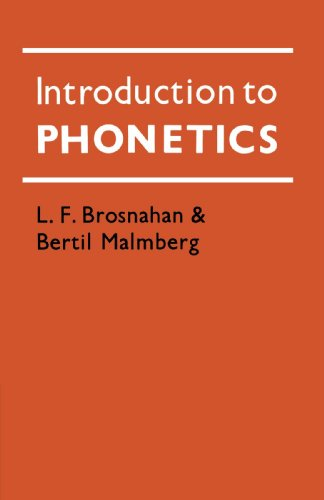 9780521290425: Introduction to Phonetics