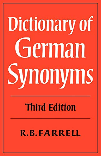 9780521290685: Dictionary of German Synonyms 3rd Edition Paperback