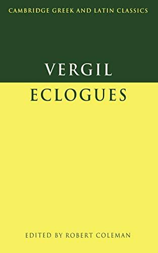 9780521291071: Virgil: Eclogues Paperback (Cambridge Greek and Latin Classics)