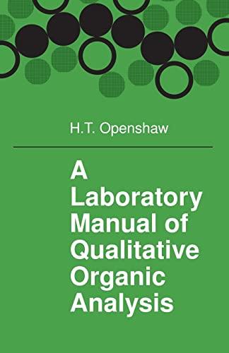 9780521291125: A Laboratory Manual of Qualitative Organic Analysis