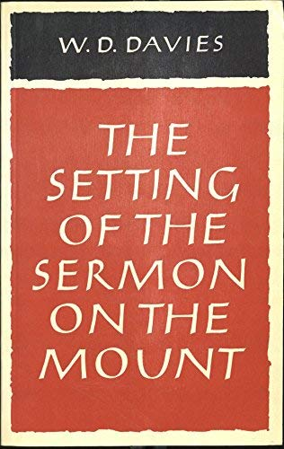 9780521291248: The Setting of the Sermon on the Mount