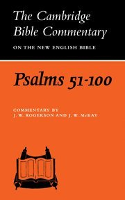 9780521291613: Psalms 51-100 (Cambridge Bible Commentaries on the Old Testament)