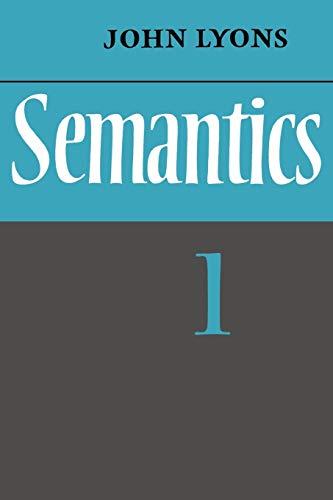 9780521291651: Semantics: Volume 1