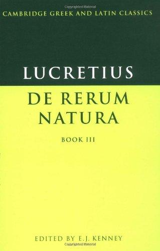 9780521291774: Lucretius: De Rerum Natura Book 3 (Cambridge Greek and Latin Classics)