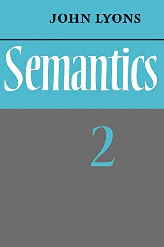 9780521291866: Semantics: Volume 2 Paperback
