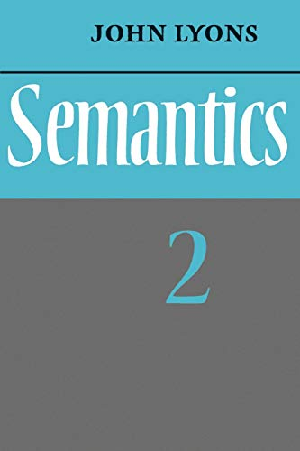 9780521291866: Semantics: Volume 2: 002
