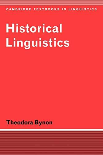 9780521291880: Historical Linguistics (Cambridge Textbooks in Linguistics)