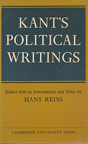 9780521292122: Kant's Political Writings (Cambridge Studies in the History and Theory of Politics)