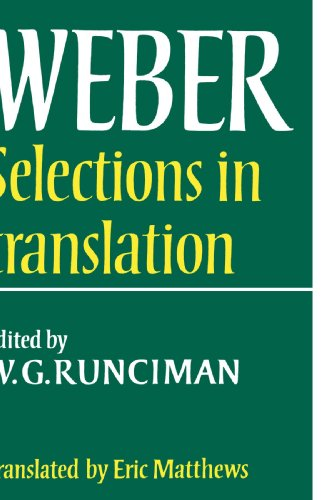 9780521292689: Max Weber: Selections in Translation