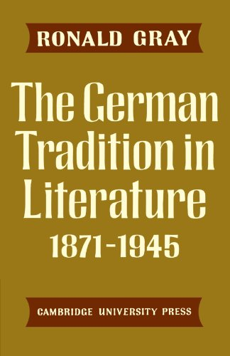 9780521292788: The German Tradition in Literature 1871-1945