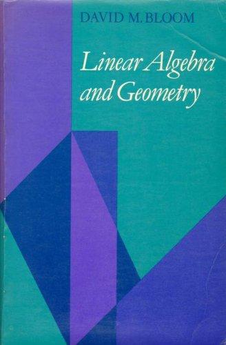 9780521293242: Linear Algebra and Geometry