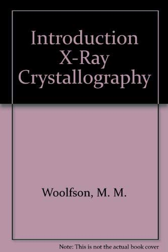 9780521293433: Introduction X-Ray Crystallography