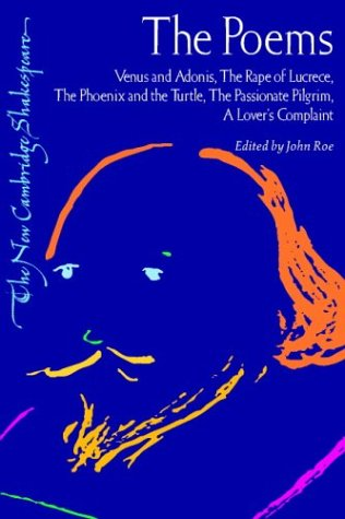 9780521294119: The Poems: Venus and Adonis, The Rape of Lucrece, The Phoenix and the Turtle, The Passionate Pilgrim