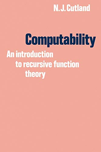 9780521294652: Computability: An Introduction to Recursive Function Theory