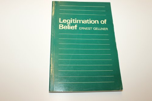 9780521295871: Legitimation of Belief