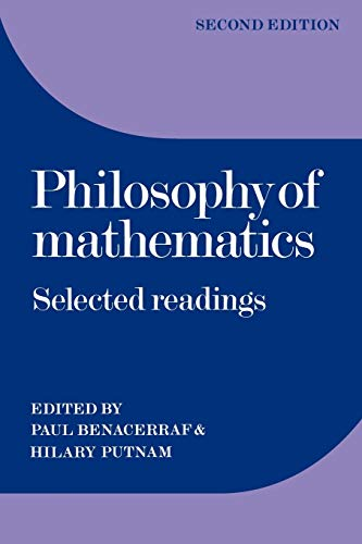 9780521296489: Philosophy of Mathematics 2nd Edition Paperback: Selected Readings
