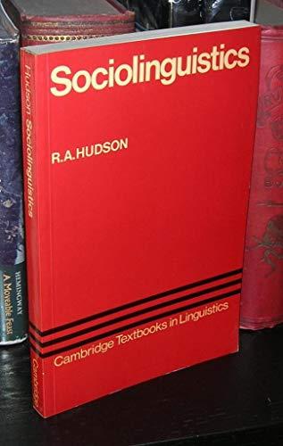 9780521296687: Sociolinguistics (Cambridge Textbooks in Linguistics)