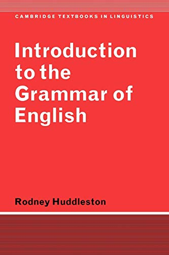 9780521297042: Introduction to the Grammar of English Paperback (Cambridge Textbooks in Linguistics)
