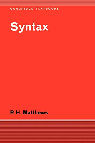 9780521297097: Syntax (Cambridge Textbooks in Linguistics)