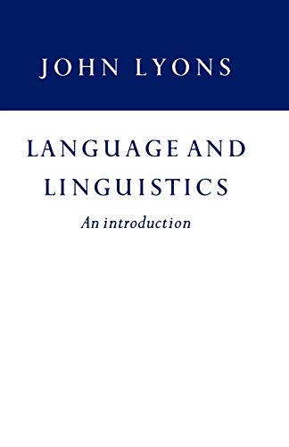 9780521297752: Language and Linguistics: An Introduction
