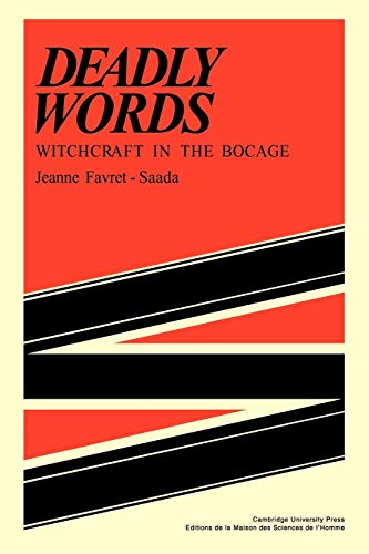 9780521297875: Deadly Words: Witchcraft in the Bocage