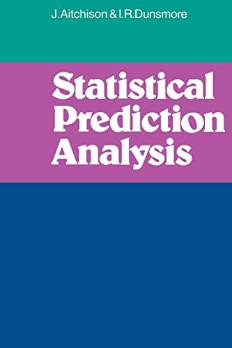 9780521298582: Statistical Prediction Analysis