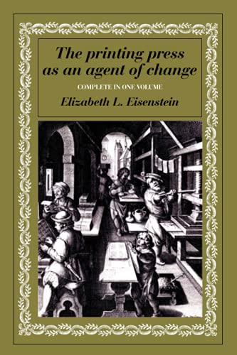 9780521299558: The Printing Press as an Agent of Change