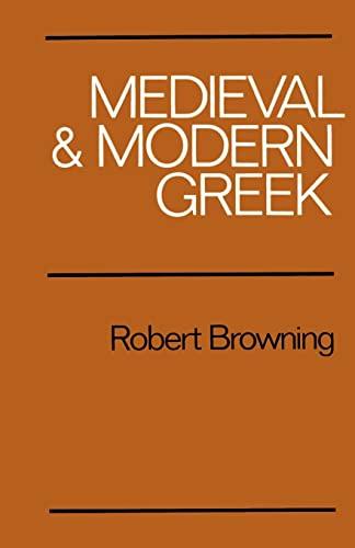 9780521299787: Medieval and Modern Greek