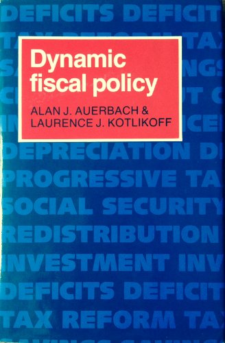 9780521300414: Dynamic Fiscal Policy