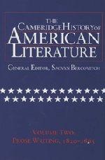 9780521301060: The Cambridge History of American Literature, Vol. 2: Prose Writing, 1820-1865