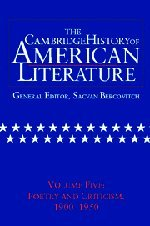 9780521301091: The Cambridge History of American Literature: Volume 5, Poetry and Criticism, 1900-1950