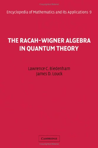 9780521302296: The Racah-Wigner Algebra in Quantum Theory (Encyclopedia of Mathematics and its Applications)