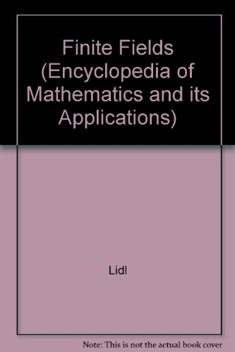 9780521302401: Finite Fields (Encyclopedia of Mathematics and its Applications)