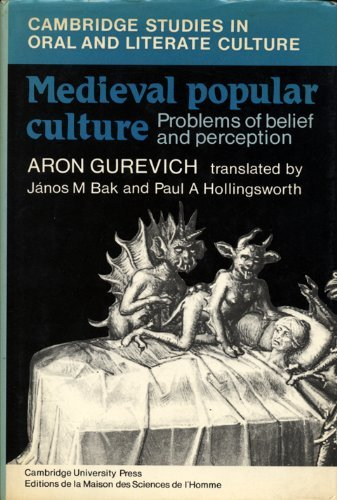 9780521303699: Medieval Popular Culture (Cambridge Studies in Oral and Literate Culture)